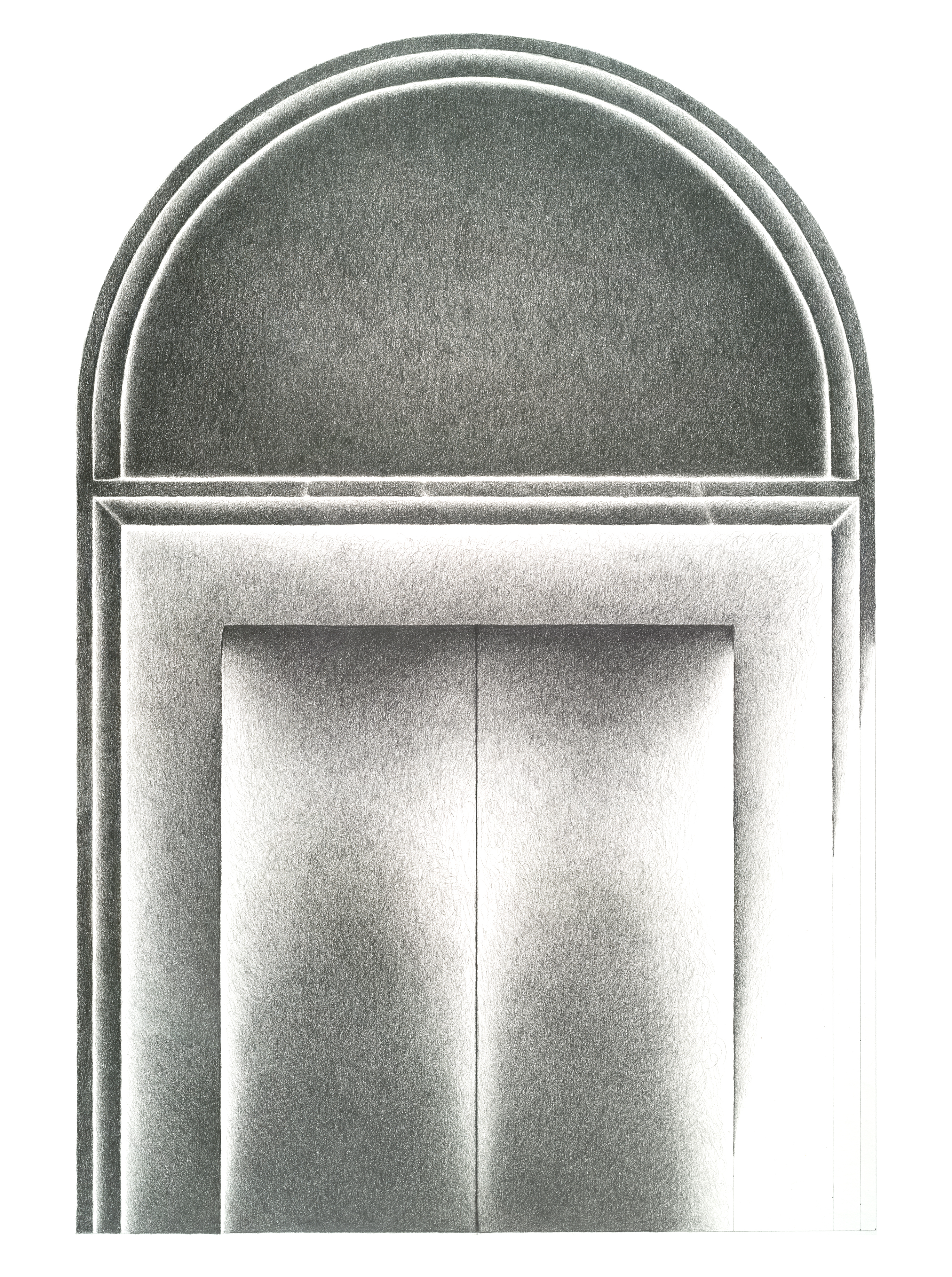 """Entering Beyond"", Graphite on Cotton Rag Paper, by Lisa Hoag"