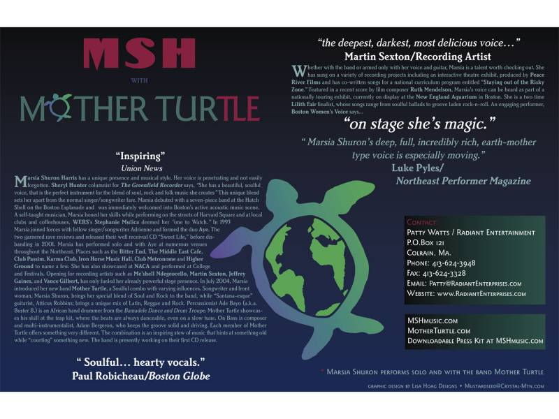 One Sheet for the band Mother Turtle