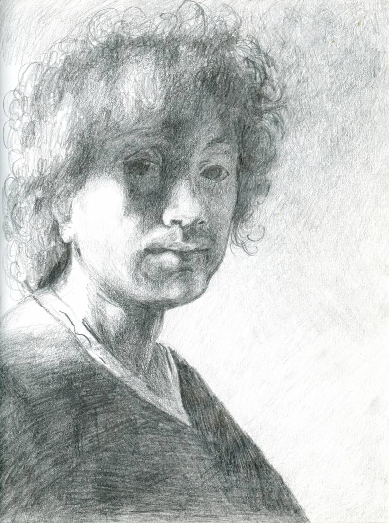 Study of Rembrandt Self Portrait
